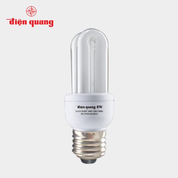 Đèn Compact CSN Điện Quang ĐQ-CFL-2U-T4-8W-DL-E27