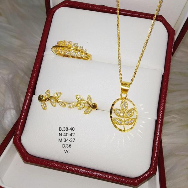 Bộ trang sức lá vàng 10k BTS46