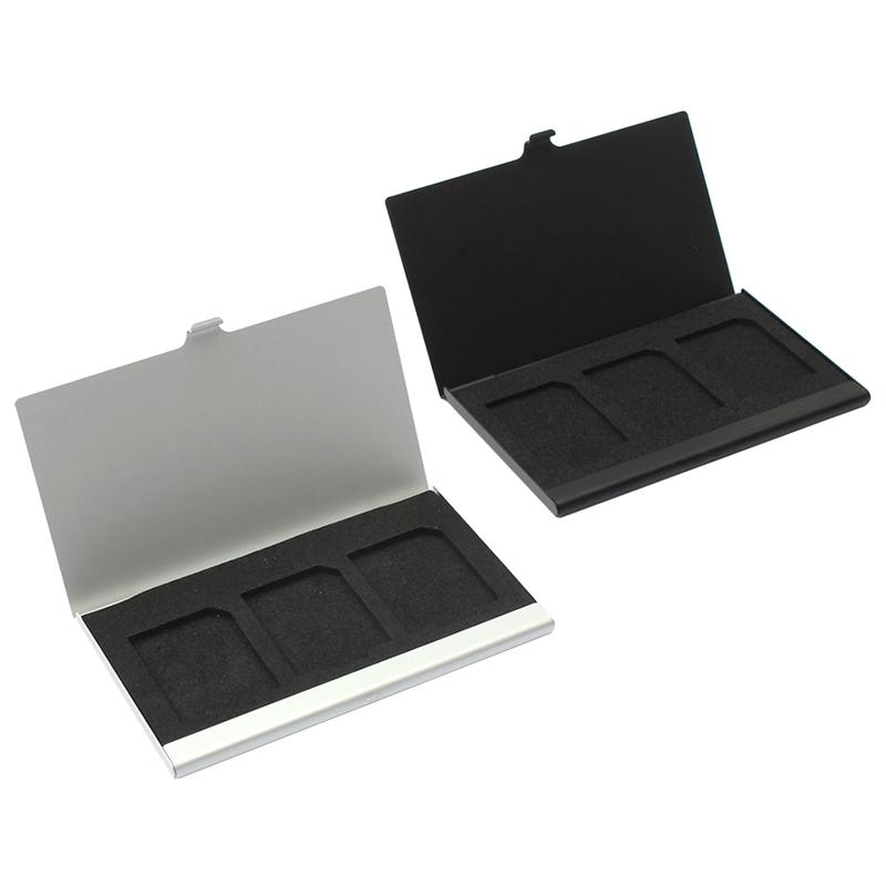 Giá Aluminum Alloy Memory Card Case Card Box Holders For 3PCS SD Cards