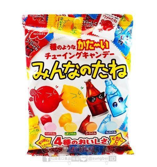 Kẹo Chewy Nobel 4 vị (Chanh, Mận, Cola, Soda)