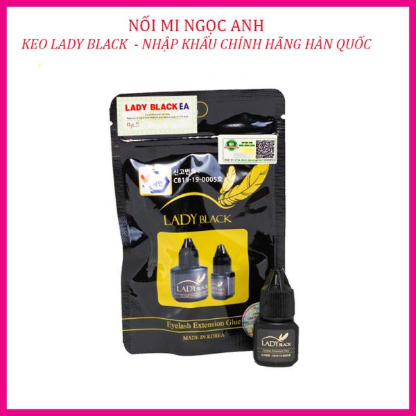 Keo Lady black/keo nối mi Lady black, khô chậm (3-4s)