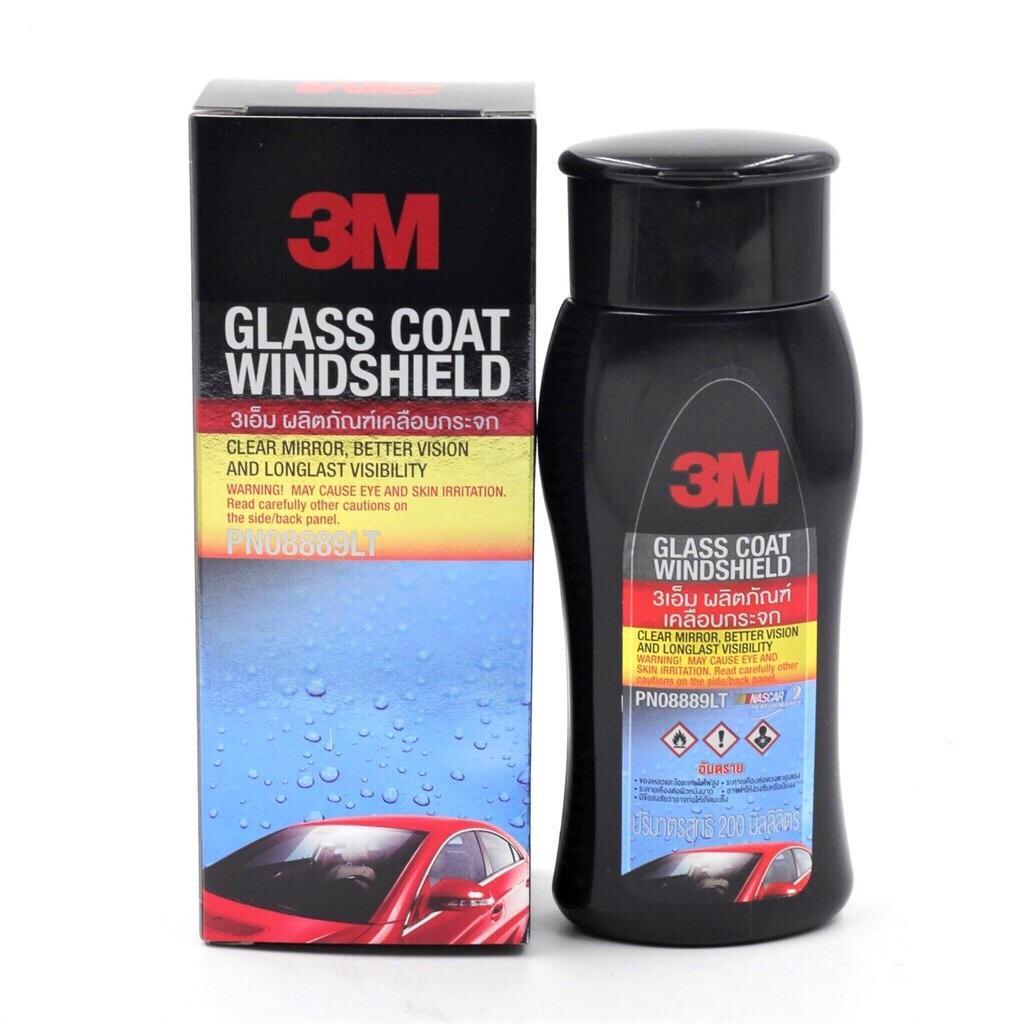 Dung Dịch Chống Bám Nước Trên Kính Xe 3M 08889 LT Glass Coat Windshield 200ml Đang Trong Dịp Khuyến Mãi