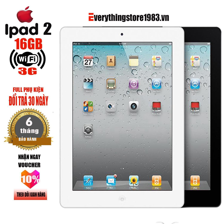Máy tính bảng IPAD 2 - 16GB - Phiên bản 3G -WIFI - Full ứng dụng - Full phụ kiện - Bao đổi trả 30 ngày - Bảo hành 6T - EverythingStore1983.vn Nhật Bản