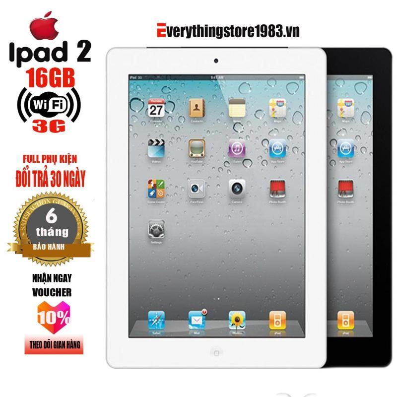 Máy tính bảng IPAD 2 - 16GB - Phiên bản 3G -WIFI - Full ứng dụng - Full phụ kiện - Bao đổi trả 30 ngày - Bảo hành 6T - EverythingStore1983.vn