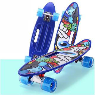 Ván Trượt Penny Archives , Ván Trượt Skateboard Penny - Có Tay Cầm - Trục Kim Loại To - Bánh Cao Su Có Đèn Led (Kích Thước 56 x 10 x 13 cm) thumbnail