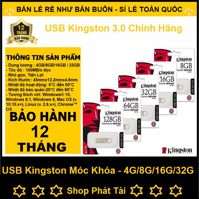 USB 3.0 Kingston DataTraveler SE9 4G, 8G, 16G, 32G, Chính Hãng, Chống Nước, Chống Va Đập, USB Mini Móc Chìa Khóa,  Bảo Hành 12 Tháng Giá Quá Ưu Đãi