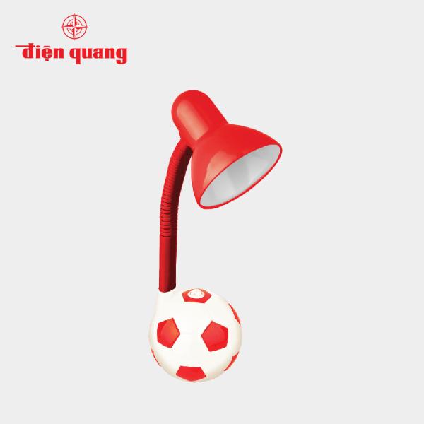Đèn bàn Điện Quang(ĐQ DKL01 RW) kiểu trái banh, đỏ trắng, không bóng