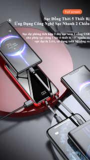 [HCM]Sạc Dự Phòng KJ-126S 20000mAh Sạc Nhanh 10W Tích Hợp Cổng Sạc USB Type C Lightning Micro USB thumbnail