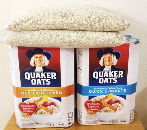 Nửa Thùng Yến Mạch Quaker Oats Mỹ 2.25kg (hạt Lớn/cán Mỏng) Giá Tốt Không Nên Bỏ Qua