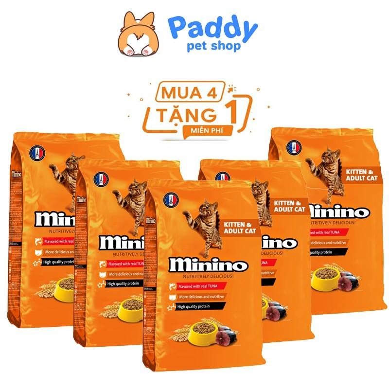 Mua 4 tặng 1 Combo 4 gói Minino Tuna vị cá ngừ 480g