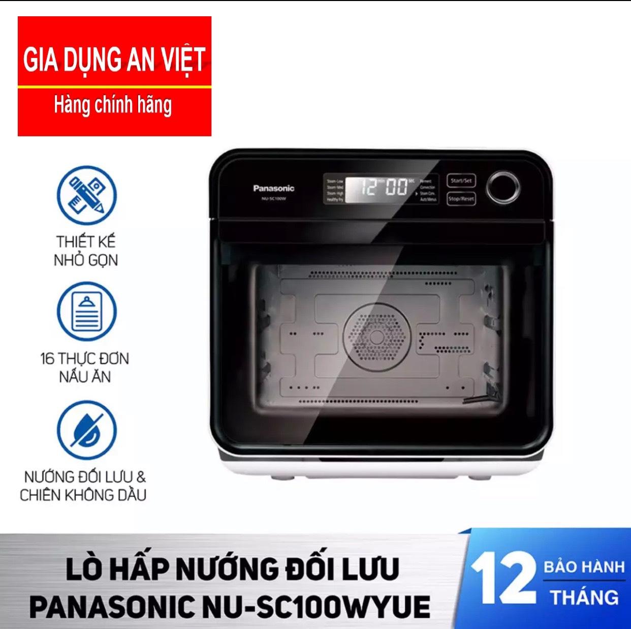 Lò Chiên Nướng Hấp Không Dầu Panasonic NU-SC100WYUE 15 Lít - Chiên không dầu giảm 80% lượng mỡ tiêu thụ - Kết hợp cả hấp