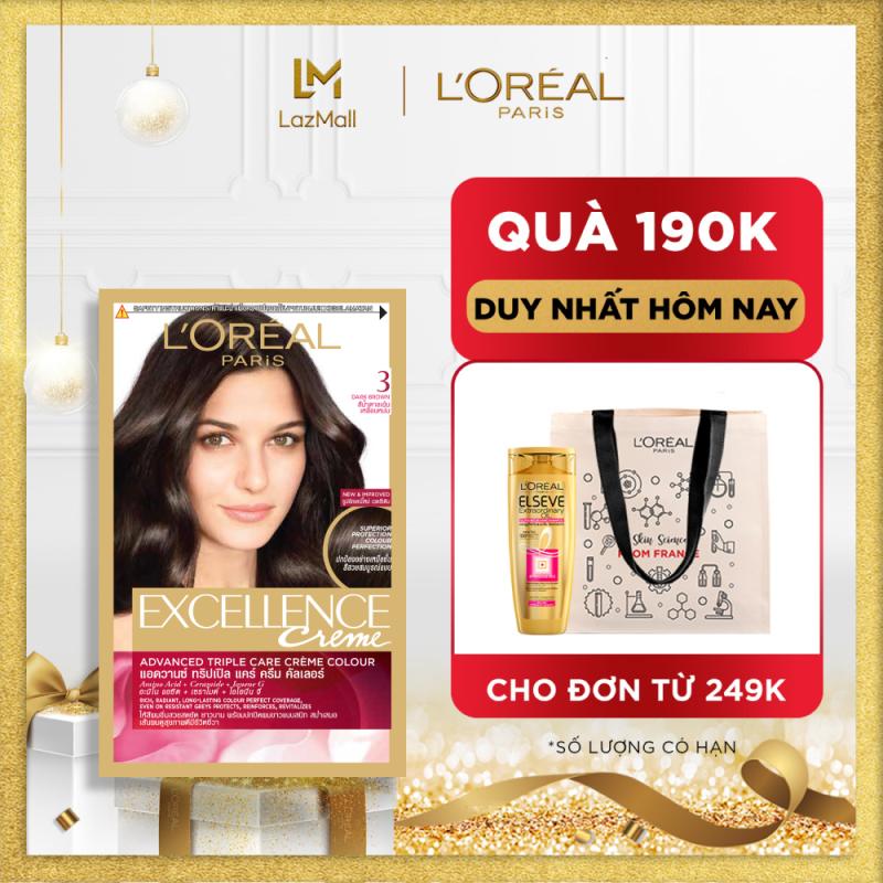 Màu nhuộm dưỡng tóc phủ bạc LOreal Paris Excellence Crème 172ml giá rẻ