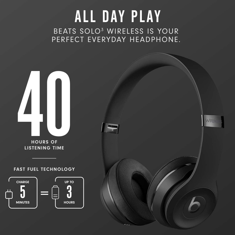 ( Xả Hàng Tai Nghe ) Tai nghe bluetooth chụp tai không dây Beats Solo3 STUDIO WIRELESS 22HR cao cấp, Tiện Lợi Dụng Khi Sử Dụng, Âm Thanh Sống Động Bass Đánh Chắc, Sạc Dùng Được Lâu, Tai Nghe Có Thể Gập Gọn Tiện Lợi