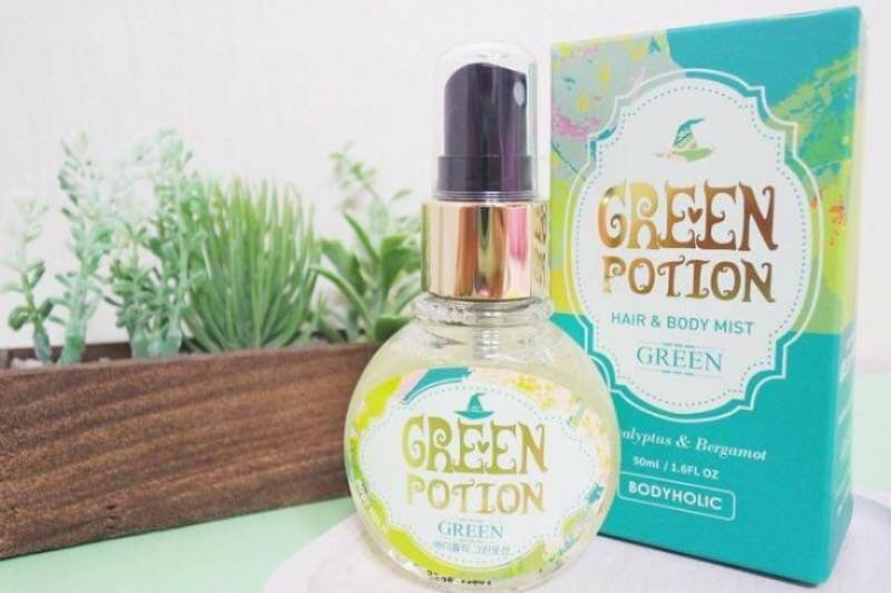 Xịt Thơm Toàn Thân Và Tóc Body Holic - Green Potion nhập khẩu