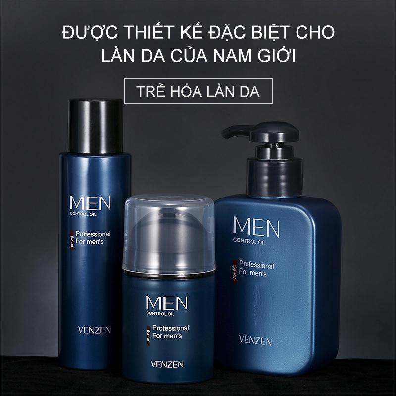 【Urbeuty】Bộ ba sản phẩm chăm sóc da cho nam, sữa rửa mặt + toner + lotion dưỡng ẩm giá rẻ