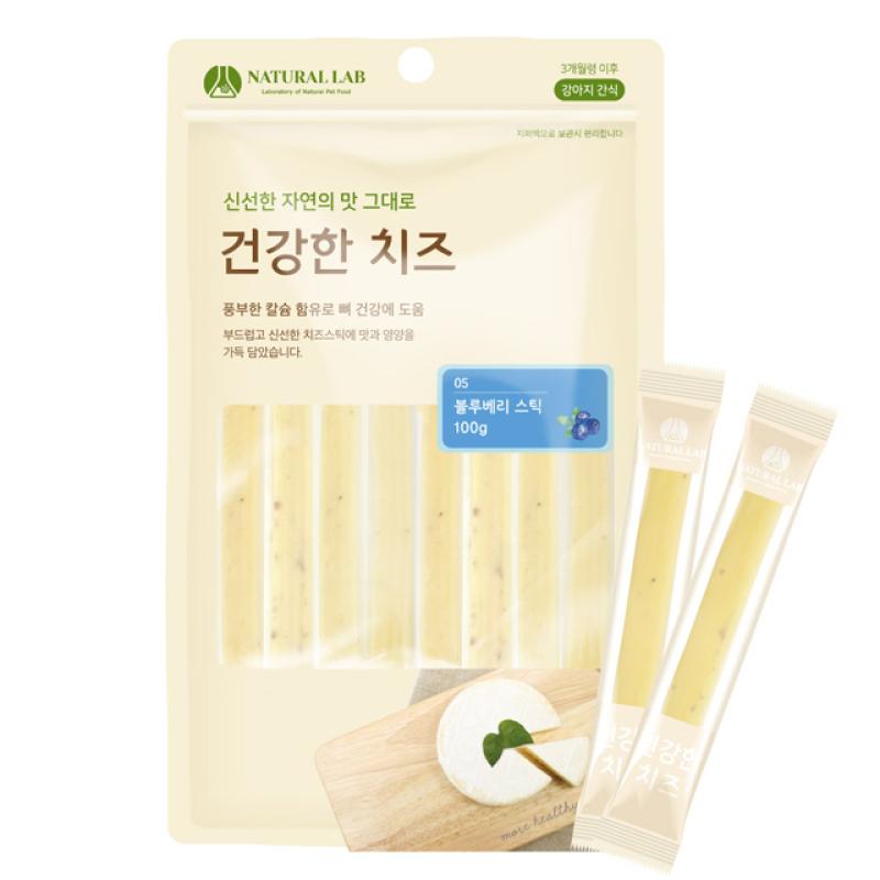 BÁNH THƯỞNG CHO CHÓ - Phô mai Nam Việt Quốc dạng que- Healthy cheese blueberry stick- Made in Korea - 100g