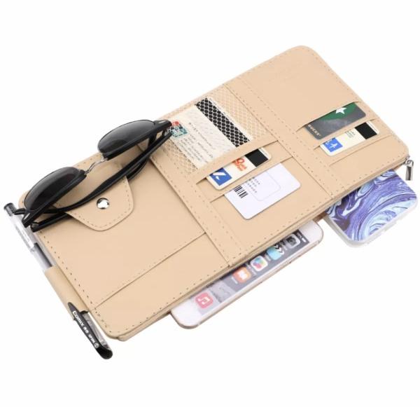 Túi đựng đồ trên xe ô tô, ví đựng giấy tờ đăng kiểm trên xe ô tô xe hơi Q02