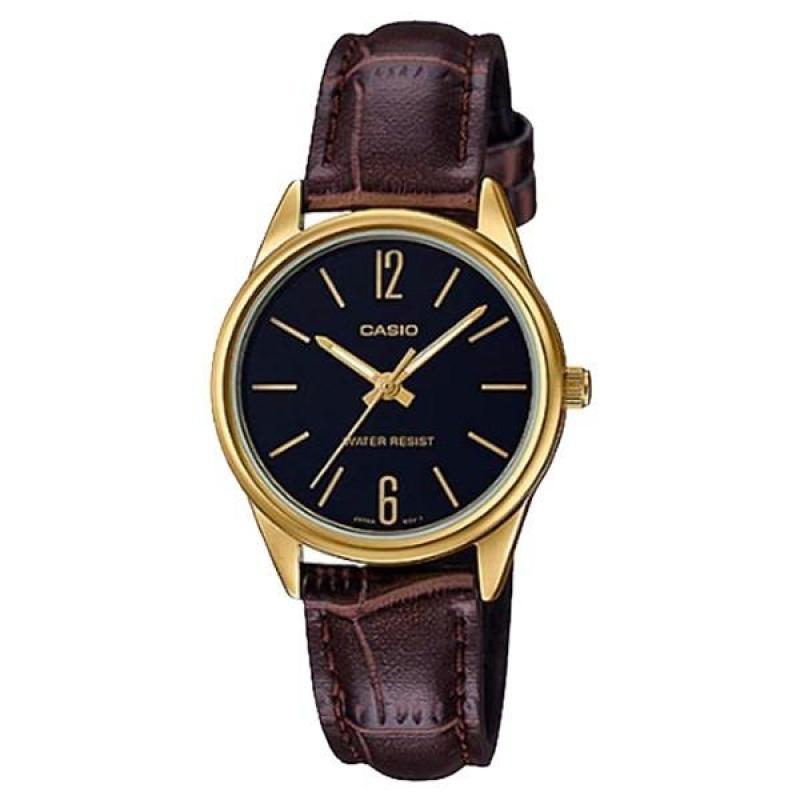 Đồng hồ nữ dây da Casio Anh Khuê ltp-v005gl-1budf