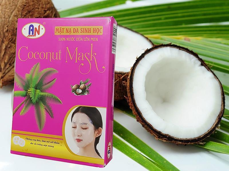 Hộp 10 Miếng Mặt Nạ Da Sinh Học Dừa Thiên Nhiên nhập khẩu