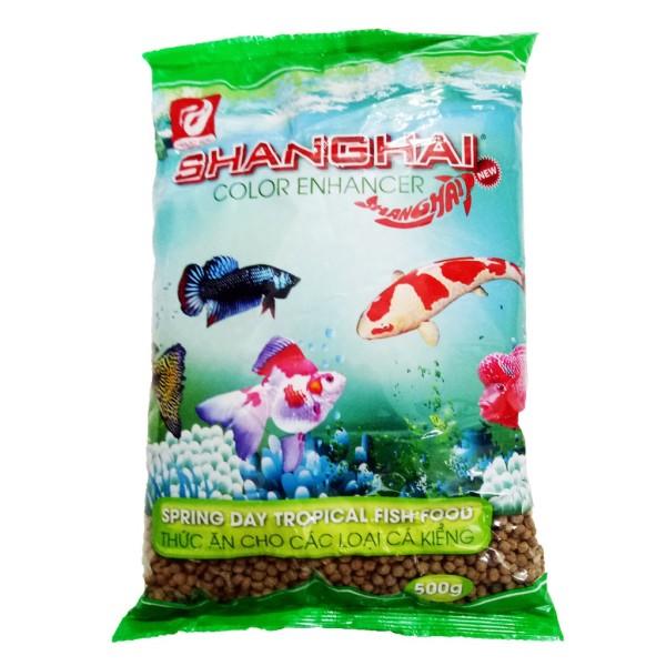 Thức ăn cá cảnh Shanghai túi 500g - Cám cá