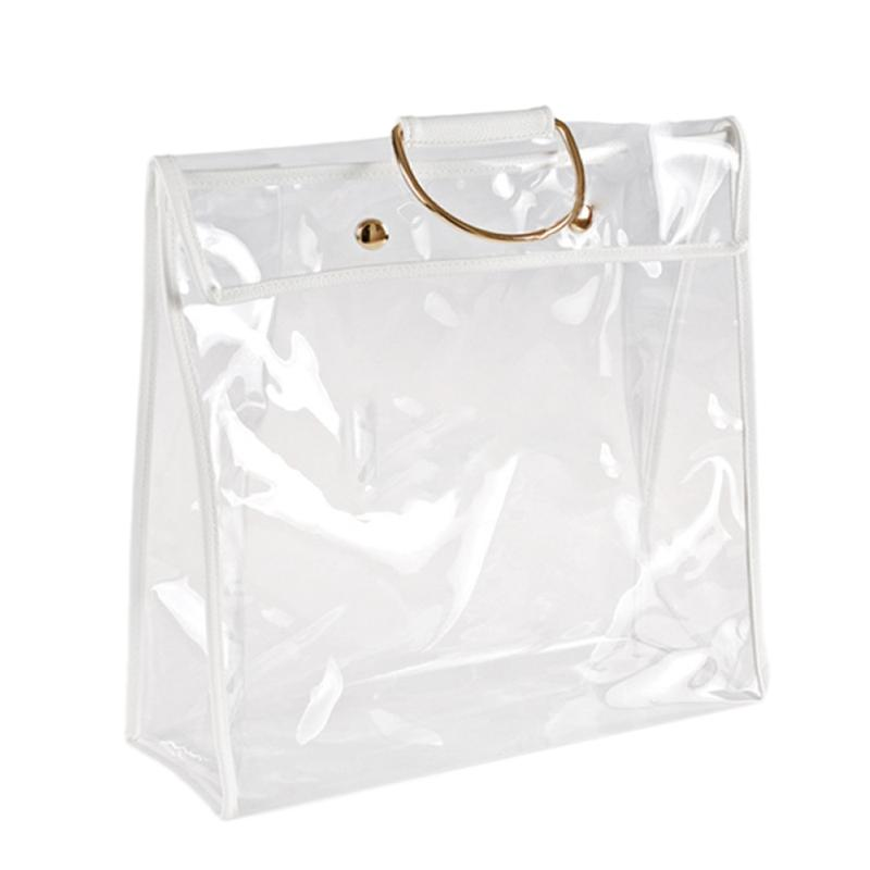 Giá Fashion Clear Dust-Proof Bag Case Organizer Woman Transparent Handbag Protector Holder for Travel Beach