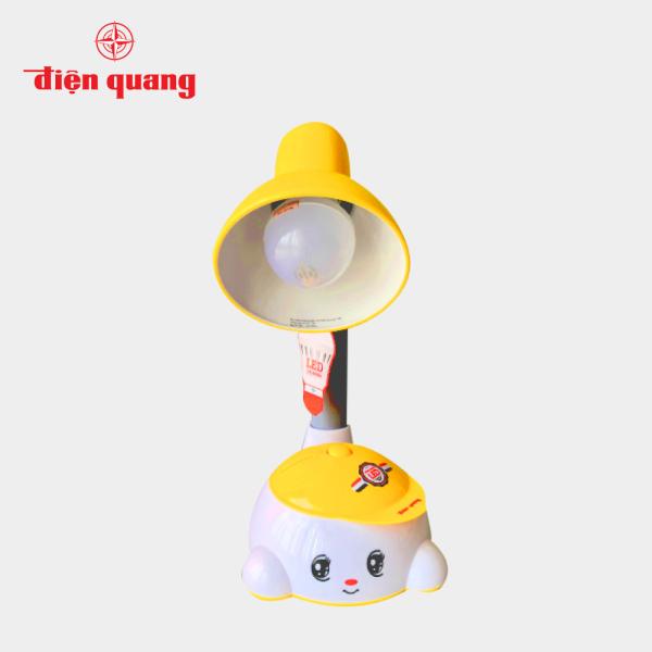 Đèn bàn Điện Quang(ĐQ DKL04) kiểu trẻ em, vàng trắng, không bóng