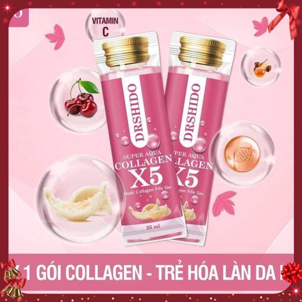 Nước Collagen Yến Sào Nhật Bản-COLLAGEN X5 SUPER AQUA DR SHIDO