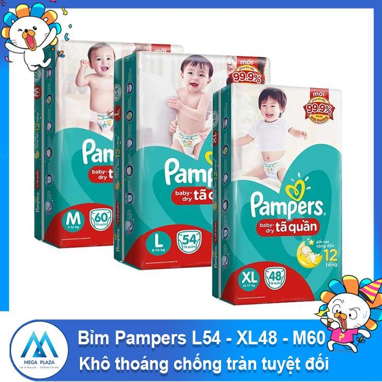 Tã Bỉm Pampers - Tã quần L54 - XL48 -...
