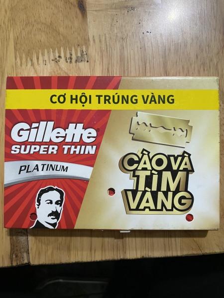 Lưỡi lam Gillette Superthin ông già 1 vỉ 100 lưỡi lam (20 hộp nhỏ) giá rẻ