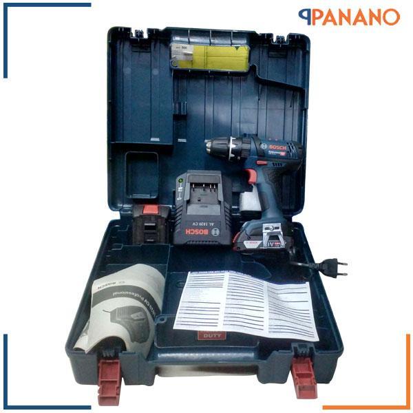 Máy khoan vặn vít pin Bosch GSB 18-2-LI kèm phụ kiện