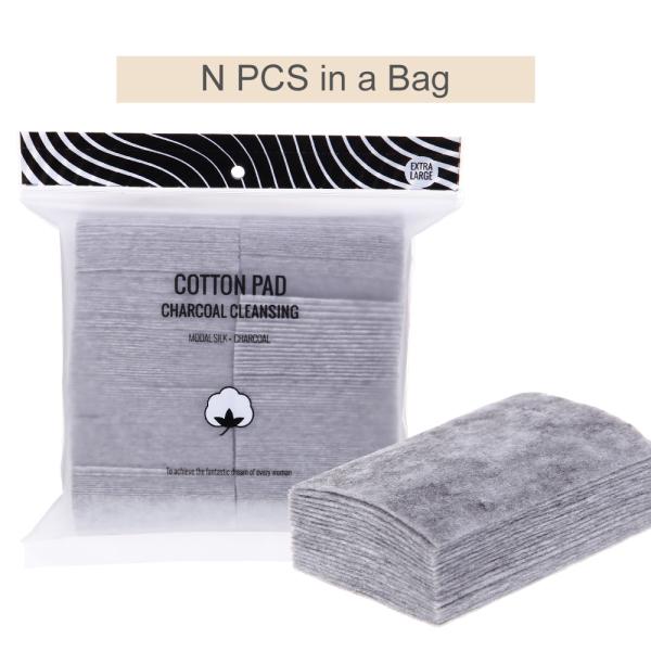 Bông tẩy trang Than tre hút đen dọn dẹp han hoạt tính từ bông cao cấp 220 miếng cotton pad Miniso