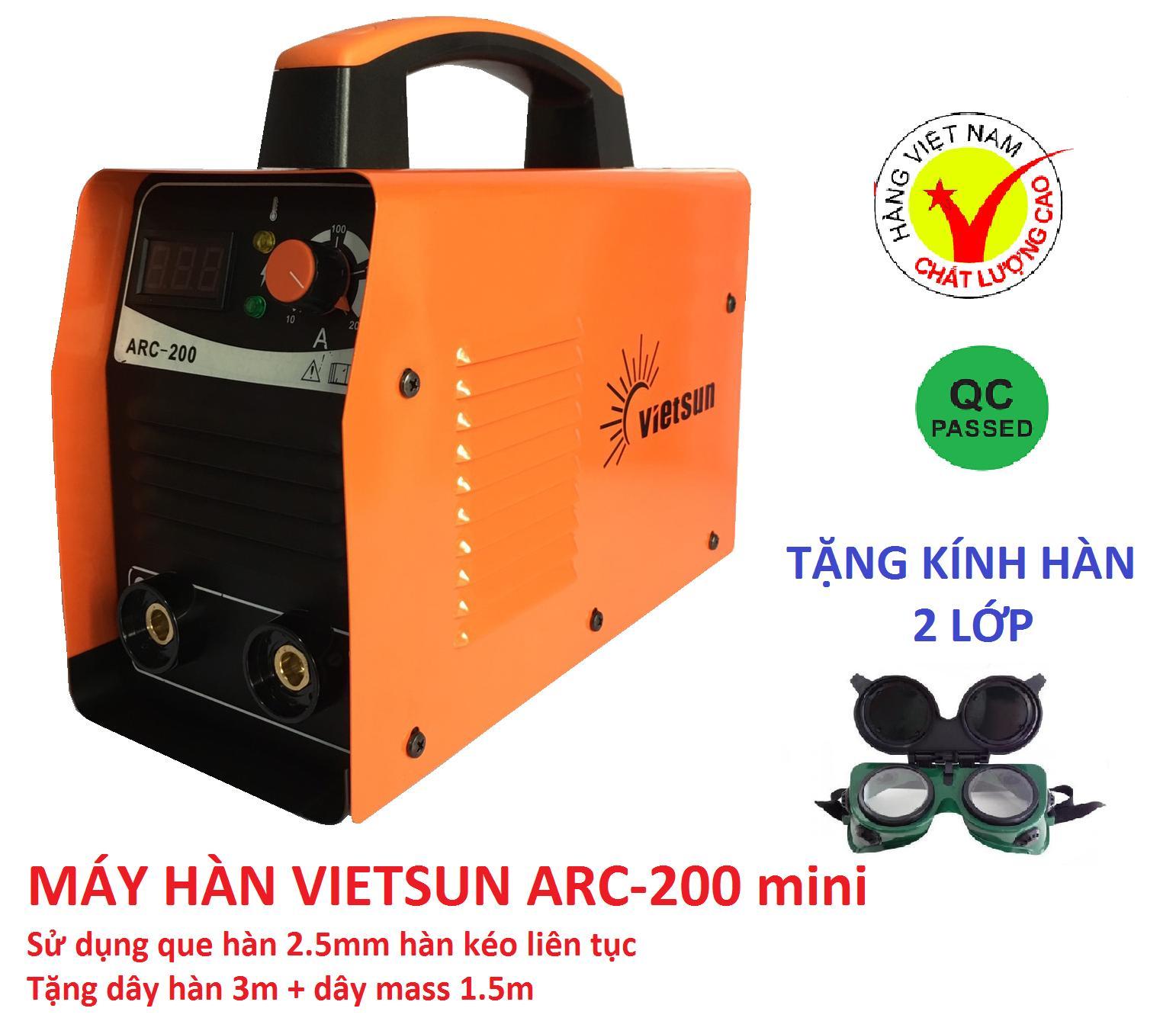 máy hàn Vietsun arc200 mini, máy hàn điện tử, máy hàn que, máy hàn mini, vietsun, hàn điện tử, kinh hàn, may han dien tu, phụ kiện hàn