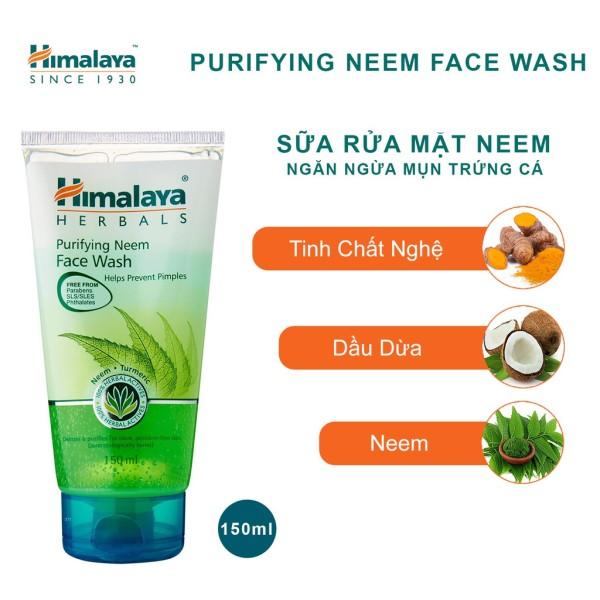 Sữa Rửa Mặt Ngăn Ngừa Mụn Trứng Cá - Himalaya Purifying Neem Face Wash (50ml/100ml/150ml)