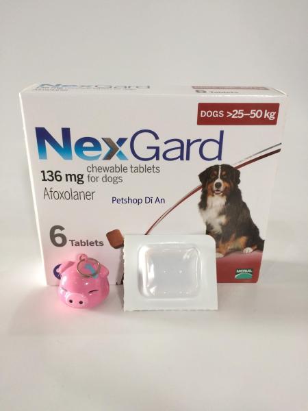 Một viên NexGard - ghẻ, xà mâu, ve, bọ chét cho chó 25 - 50 kg