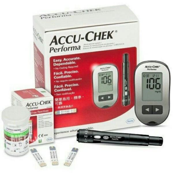 Nơi bán Máy đo đường huyết Accu-check performa tặng hộp que thử 10 que, cam kết hàng đúng mô tả, sản xuất theo công nghệ hiện đại, an toàn cho người sử dụng