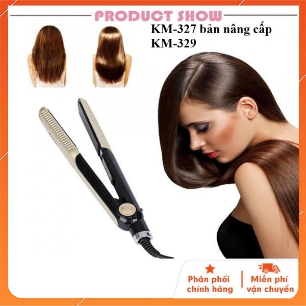 Máy ép tóc km327 bản nag cấp km 329 chức năng: uốn tóc - làm tóc -bấm tóc - hớt tóc- duỗi tóc - mini - giá rẻ - máy ép tóc hàng tốt
