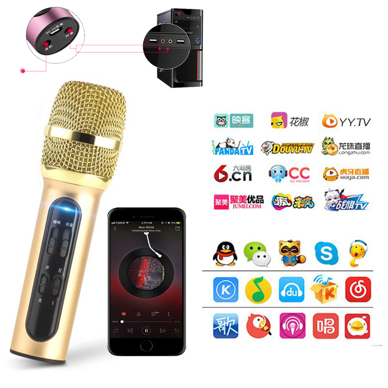 [Xả Kho] Mic C11 Nâng Cấp, Micro Thu Âm Livestream Hát Karaoke Mic C11,Mua Bộ Micro C11 Live Stream, Hát Karaoke Chuyên Nghiệp Mới, Đầy Đủ Phụ Kiện Tai Nghe, Cáp Sạc, Dây Live, Dây Lấy Nhạc, Bảo Hành 1 Đổi 1