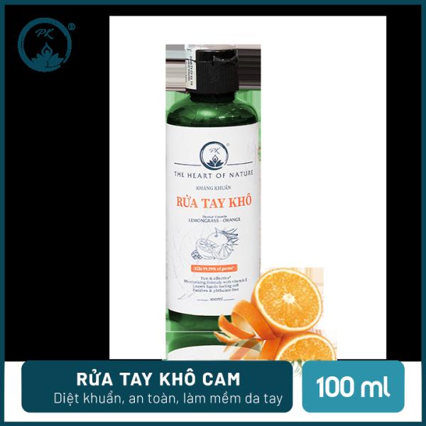 [SÁT KHUẨN] Nước rửa tay khô tinh dầu Cam PK 100ML – có kiểm định diệt khuẩn 99,9%