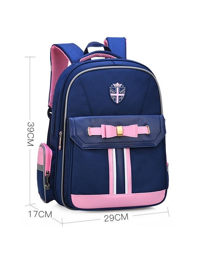 Giá bán Ba lô học sinh dành cho bé gái HLS019 - Màu xanh (29cm X 17cm X 39cm)