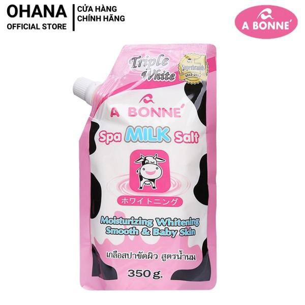 Muối tắm sữa bò tẩy tế bào chết A Bonne Spa Milk Salt Thái Lan 350gr nhập khẩu