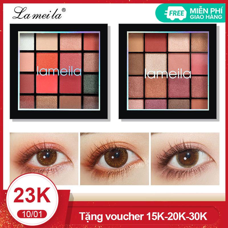 Bảng phấn mắt Lameila 16 màu long lanh siêu đẹp bảng màu mắt phấn trang điểm mắt nội địa Trung TK-PM092 nhập khẩu