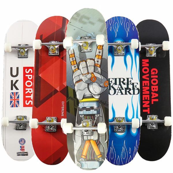 Giá bán Ván Trượt Skateboard Mặt Nhám Chống Trơn Trượt Đạt Chuẩn Thi Đấu Gỗ Phong Ép 8 Lớp, Trục Kim Loại Chắc Chắn Kết Hợp Bánh Cao Su Pu Chống Mài Mòn Siêu Bền