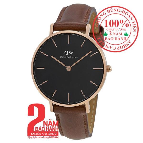 Đồng hồ nữ Daniel WelIington Classic Petite St Mawes- 32mm- Màu vàng hồng (Rose Gold), mặt đen(Black) DW00100169