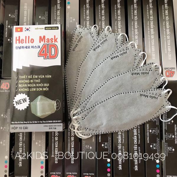 [XÁM] Hộp 10 cái khẩu trang 4D Hello Mask đạt chuẩn Hàn Quốc/Full box 10 pcs 4D mask Korea