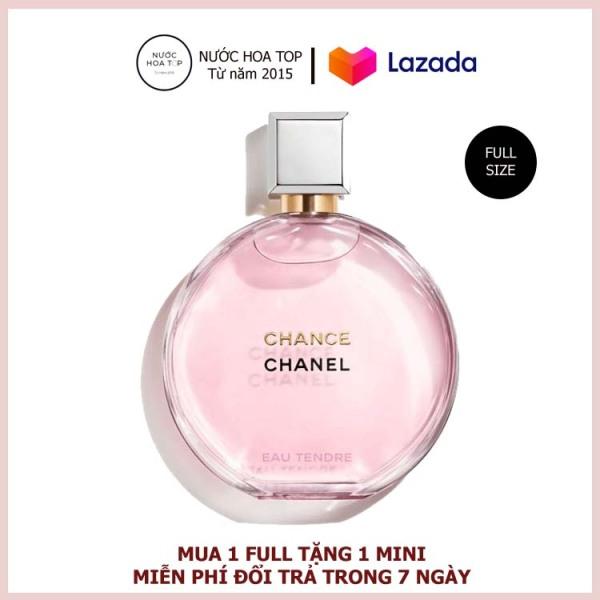 Nước Hoa Cao Cấp, Nước Hoa Nữ Chanel Chance Eau Tendre EDP 100ML 24h Thơm Lâu Chính hãng