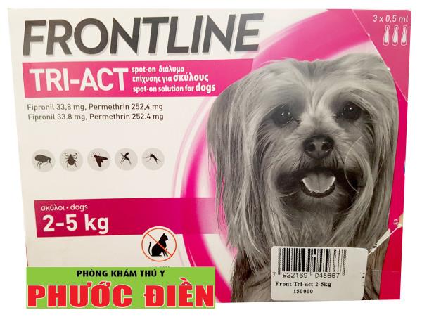 FRONTLINE Tri-act - Loại bỏ bọ chét và ve cho Chó từ (2-5kg), (5-10kg), (10-20kg)