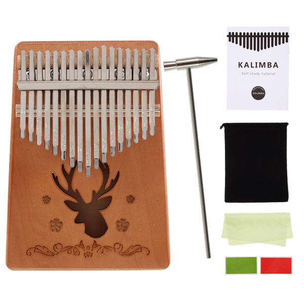 [Quà tặng miễn phí] INSOUND Bàn phím cầm tay Kalimba 17 phím Ngón tay cái đàn Piano ngón tay Bàn phím đàn piano gỗ Kalimba Nhạc cụ thế giới dân gian Bàn phím với túi điều chỉnh miễn phí Hammer Flannel