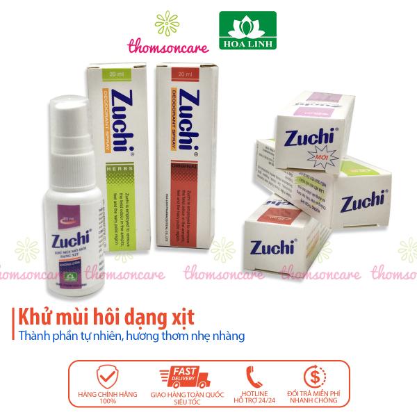Zuchi xịt khử mùi hôi nách từ thảo dược - chính hãng cao cấp