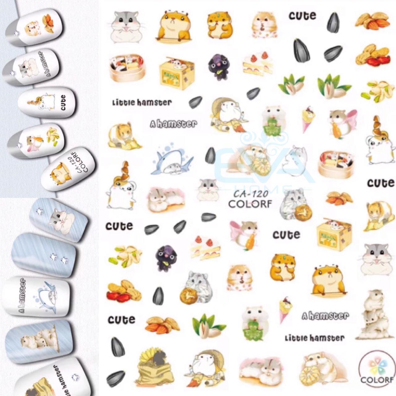 Miếng Dán Móng Tay 3D Nail Sticker Tráng Trí Hoạ Tiết Chuột hamster CA129 SP3-15 tốt nhất