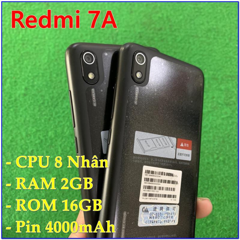 [HOT] Điện thoại Xiaomi Redmi 7A RAM 2GB ROM 16GB - Có Tiếng Việt, Tặng Sạc Cáp, Mới 98-99%